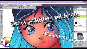 Comic Mädchen Zeichnen Speedart Digital Wacom Intuos Diy