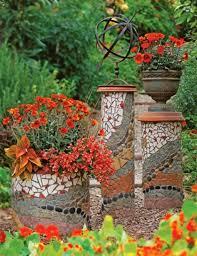 garden flower pots mosaic design