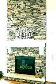 faux stone fireplace ideas design
