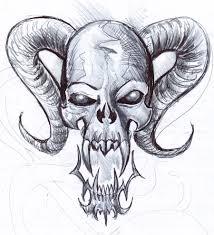 Gothic Skull Design Gothic Skull Drawings Skull 5 Fast Sketch By Penerari