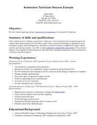 Millwright Resume Sample Cover Letter Automotive Technician Resume Skills Automotive Technician Resume 69