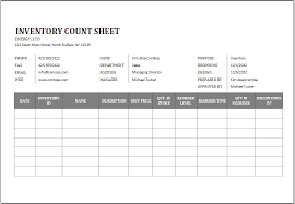 Inventory Cycle Count Excel Template Inventory Count Magdalene Project Org