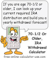 401k Minimum Distribution Chart Ira Future Withdrawal Calculator Forecast Rmds Through Age 113
