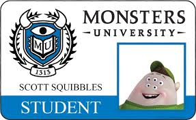 Id Cards Posters Monsters Collider University Character Pixar's And