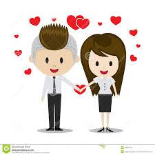 Couples Mignons Dans L Amour Tenant Des Mains Personnages De