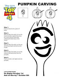 forky pumpkin carving stencil from toy