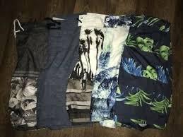 Hollister Bathing Suit Size Chart Bundle 5 Pair Hollister Mens Swim Trunks Size Small New