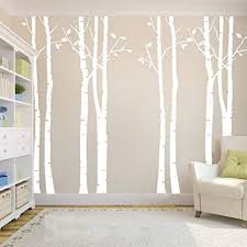 n sunforest 7 8ft white birch tree vinyl wall decals nursery forest family tree wall on white birch tree wall art with amazon n sunforest 7 8ft white birch tree vinyl wall decals