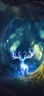 Magic Forest Fantasy Deer Wallpaper ...