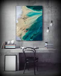 large abstract print of painting blue painting print giclee print coastal painting teal wall decor gift for women gift for mom