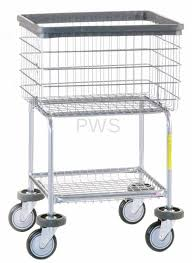 r b wire s r b wire 300g deluxe elevated laundry cart chrome basket on