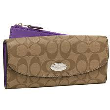 Coach Purple Wallets for Women for sale   eBay