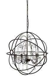 24 1 2 rnd x 25 1 2 h metal chandelier w 6 lights glass crystals 3 chain 6 cord