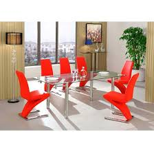red leather dining chairs best price. alicia extending glass dining table with 6 demi chair in red leather chairs best price