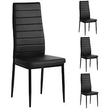 Image Plastic Amazoncom Aingoo Kitchen Chairs Set Of Dining Chair Black With Steel Frame High Back Pu Leather