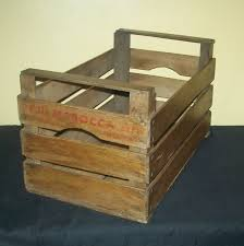 vintage wooden fruit crate 1960s decorative storage display log storage 1 of 6free