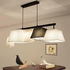 modern contemporary 5 light steel pendant light with fabric shade for corridor living room