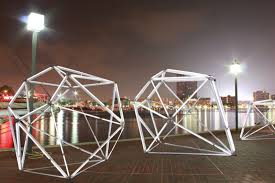 the installation diamond lights baltimore courtesy of the baltimore office of promotion the arts