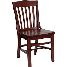 wooden chair. Flash Furniture HERCULES Series School House Back Mahogany Wood Restaurant Chair Wooden