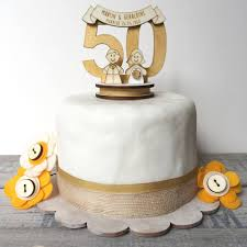 Personalised 50th Wedding Anniversary Cake Topper By Just Toppers