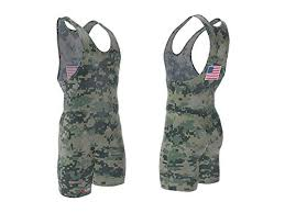 4 Time All American Marpat Camo Wrestling Singlet Size 3xs