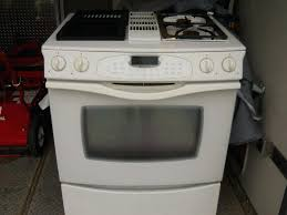 jen air stove air duel fuel downdraft range white with grill unit electric decor jenn air jen air stove