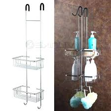 over the door shower double shelf hanging hook caddy plastic uk plasti