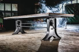 Tischfabrik24 Industrial Esstisch Hooker Höhenverstellbar
