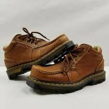 dr martens kyle lace up leather brown shoes ankle boots size men s