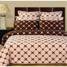 9pc reversible pink brown bed in a bag 119 pink bedding
