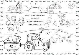 Animal Coloring Printables Farm Animals Colouring Pages Printable