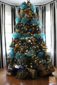 Christmas Tree Decorating Ideas: Turquoise, Blue & Bronze