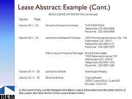 lease abstract template lease administration commercial property ppt download