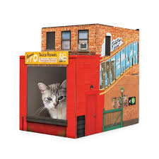 Cardboard House For Cats Airplane Cat House Pets Kitten Play Uncommongoods