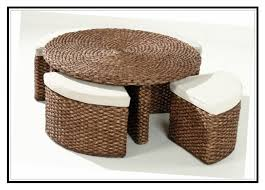round rattan coffee table with stools coffee table stools round coffee table with stools