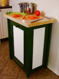 Decorative Kitchen Trash Cans How To Build A Trash Bin With A Butcher Block Countertop How Tos