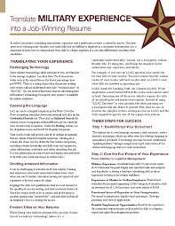 Military Resume Translating Your Skills Templa 15814