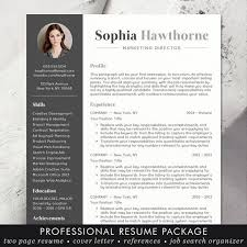 Modern Resume Template 2013 Professional Resume Template With Photo Modern Cv Word