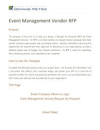 Rfp Proposal Template