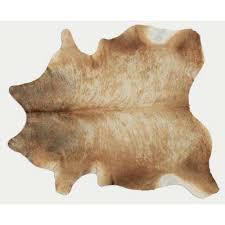 cowhide gueston tan 6 ft 0 in x 8 ft 0 in