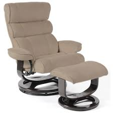 computer chairs ideas with brown fabric recliner chair with high armrest and high bacrest also footrest
