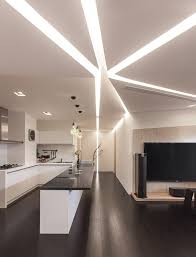 artistic lighting and designs. Beautiful Natural Ceiling Lighting Setup With Contemporary Style Design In Modern Kitchen Interior Artistic And Designs C