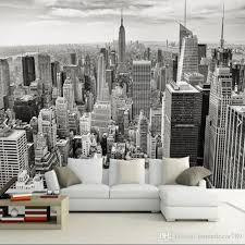 retro nostalgic new york black and white 3d city sofa tv background wall decoration wallpaper bars hotels living room wall paper mural wallpapers on hd