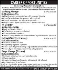 Oulin Pakistan Pvt Limited Lahore Jobs For Marketing Manager