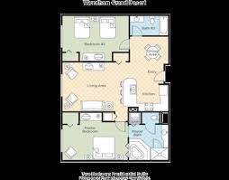 Wyndham Grand Desert 2 Bedroom Presidential Floor Plan