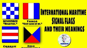 Various navies have flag systems with additional flags and codes, and other flags are used in special uses. International Maritime Signal Flags And Their Meaning Nautical Alphabet Flags Maritime Flags Youtube