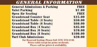 Ruidoso Downs Seating Chart 24 Bright Race Track Reward Chart