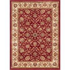 aurora lea traditional oriental red 3 ft 11 in x 5 ft 3