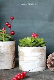 DIY Faux Birch Wood Succulent Planter made from old tin cans and scrapbook  paper -cute