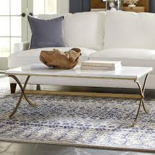 white and gold dorsay coffee table